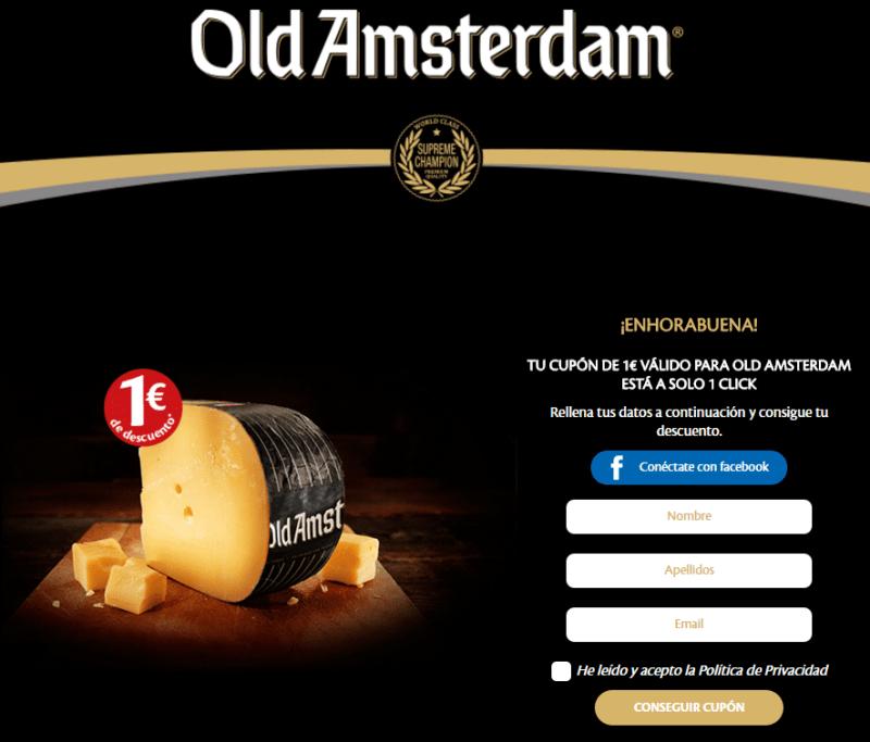 Cupón descuento queso OldAmsterdam