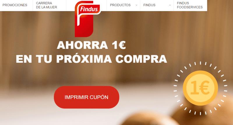 Cupón descuento Findus 1 Euro