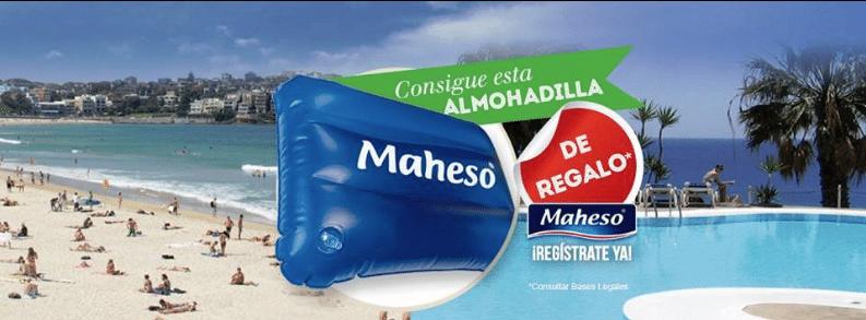 Almohadilla hinchable gratis con Maheso