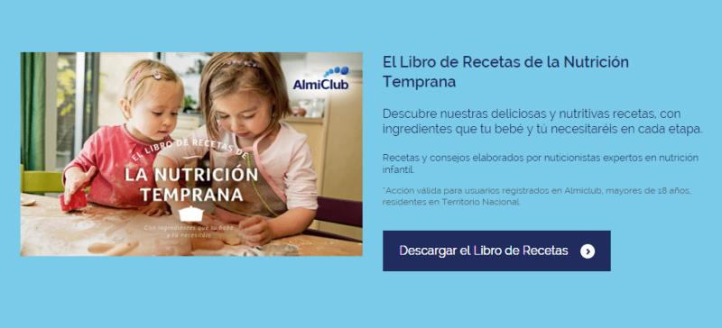 Muestras y libro de recetas gratis para bebé