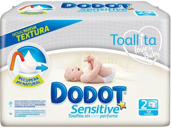 Muestras gratis de toallitas Dodot Sensitive