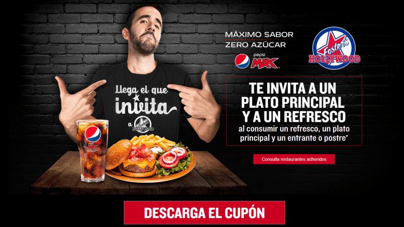 Invita a tu acompañante a comer gratis con Pepsi