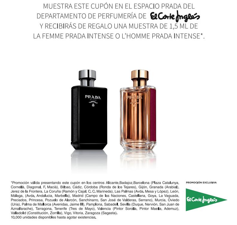 Muestras gratis de perfume Prada