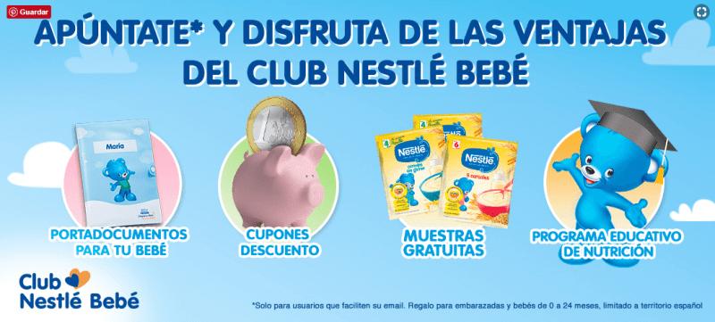 Regalos y muestras gratis con el club Nestle Bebe
