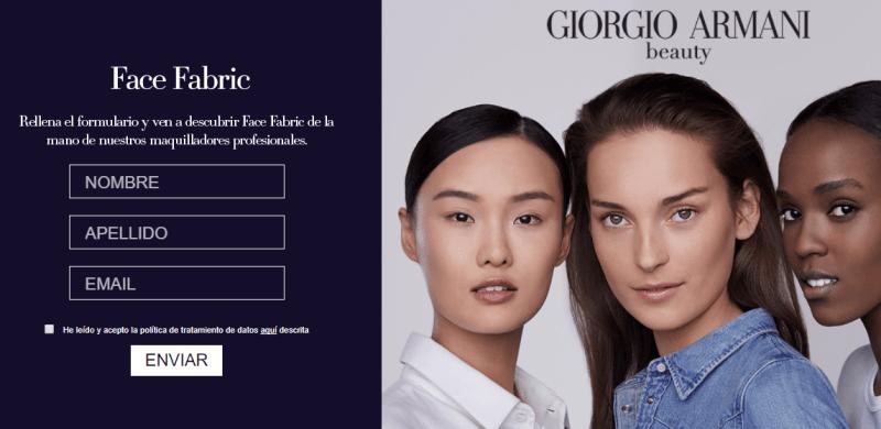 Muestras gratis de maquillaje Armani