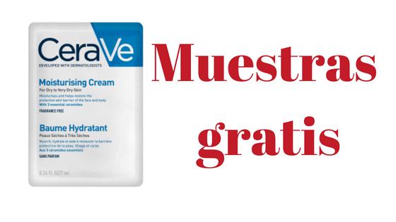 Muestras gratis de crema hidratante