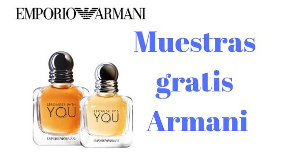 Muestras gratis de perfumes Emporio Armani