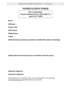 Fire ARCH Nomination Form