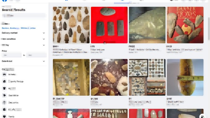 Facebook Groups for buying-selling historic artifacts