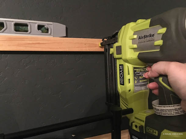 DIY Horizontal Board and Batten Feature Wall | ahouseandadog.com