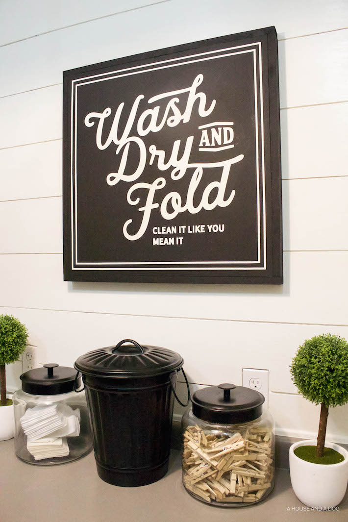 New Laundry Sign & Update One Year Later | ahouseandadog.com