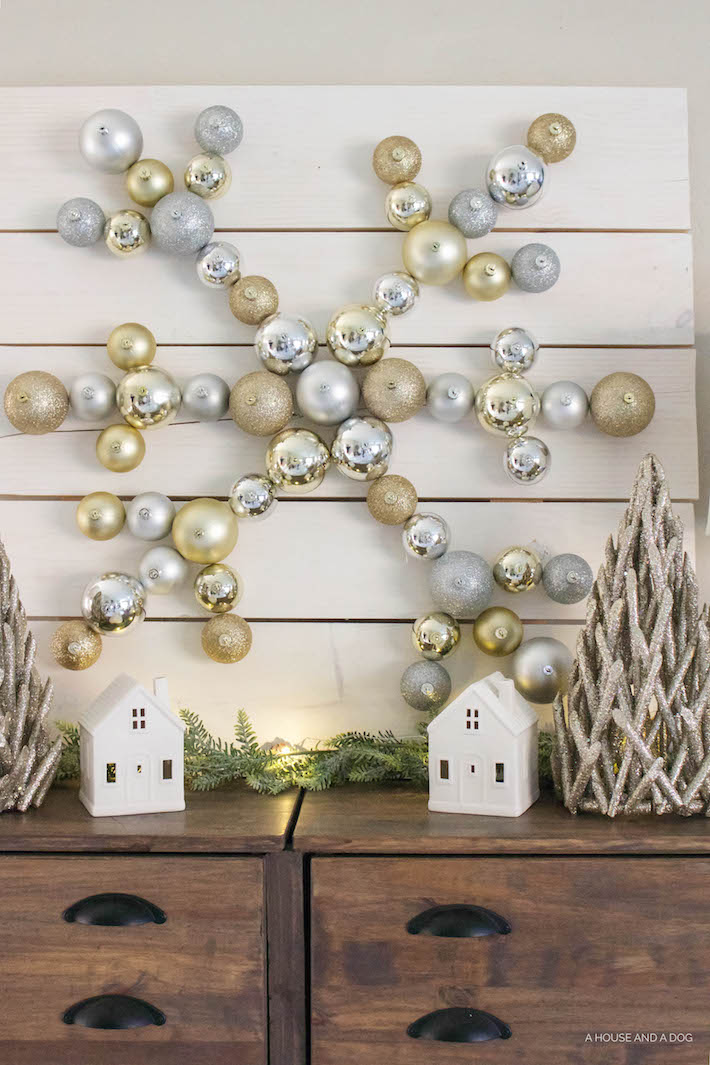 DIY Snowflake Ornament Display with The Home Depot | Christmas DIY | ahouseandadog.com