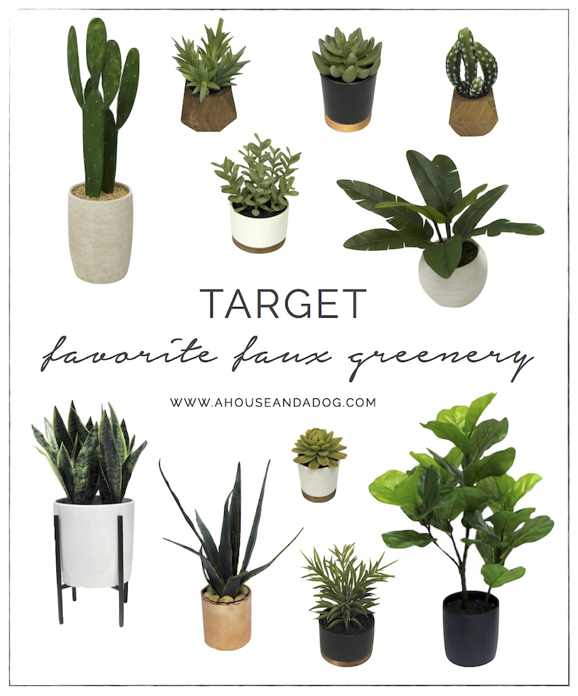 Favorite Faux Greenery from Target | ahouseandadog.com