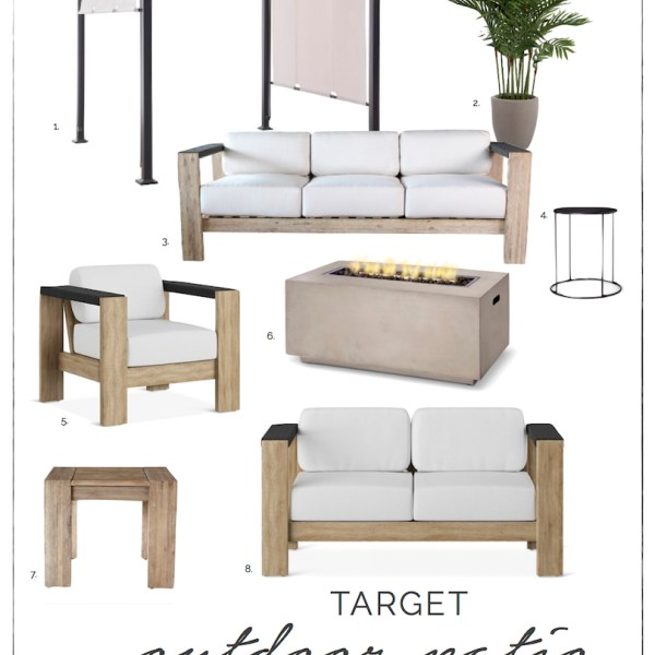 Modern Outdoor Furniture at Target | ahouseandadog.com