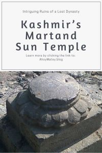 The missing stone sculpture of sun in the floor of the temple