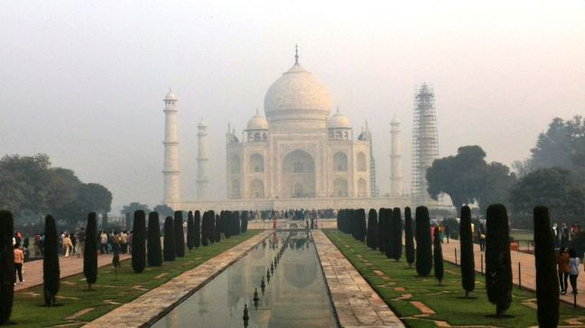 The Taj Mahal from the front