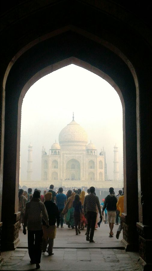 Taj Mahal in the mist