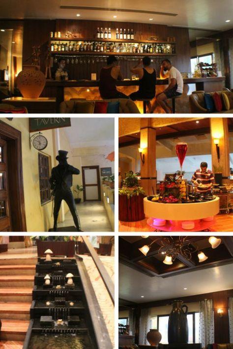 The decor in the Fariyas Hotel Lonavala