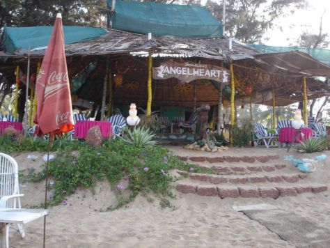 A beach shack on Baga intriguingly called Monalisa's Angelheart