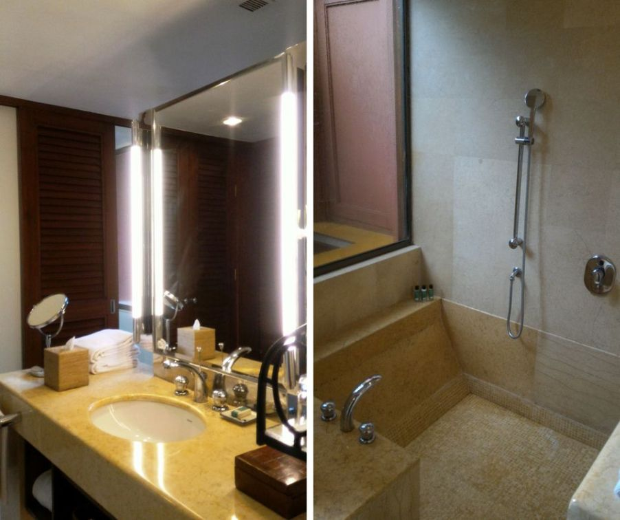 My lavish bathroom with the sunken shower