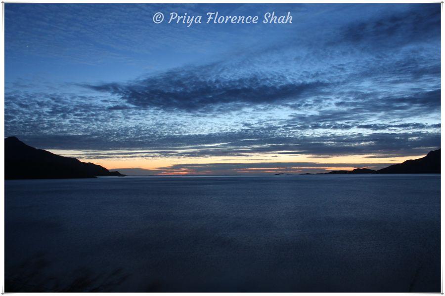 Brilliant sunset at Grøtfjord