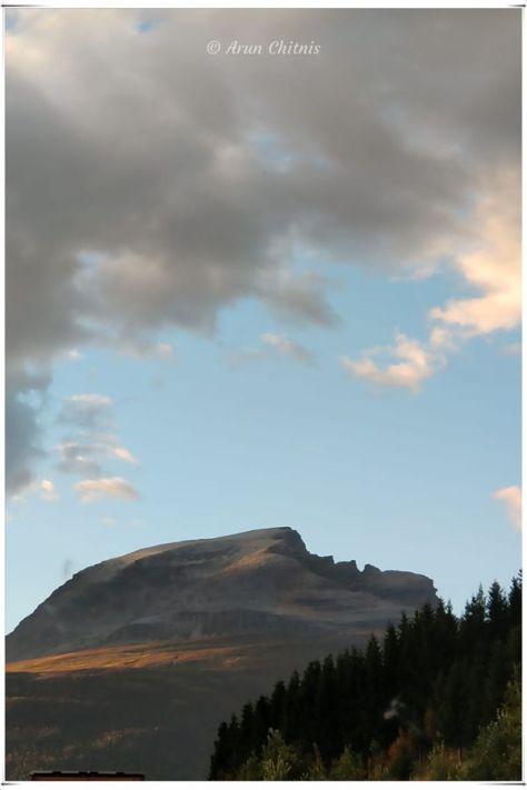 The Sleeping Soldier mountain peak in Norway