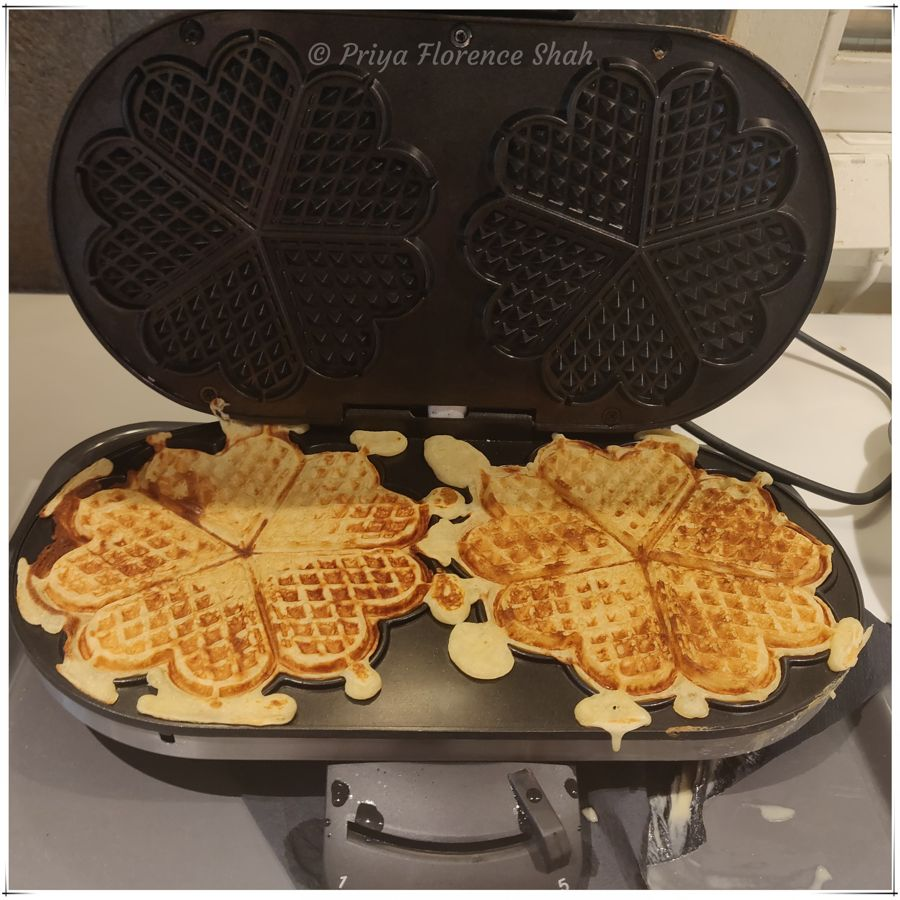 Delicious waffles for lunch