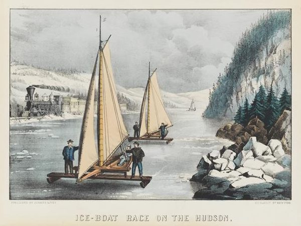 Currier & Ives, Ice-Boat Race on the Hudson