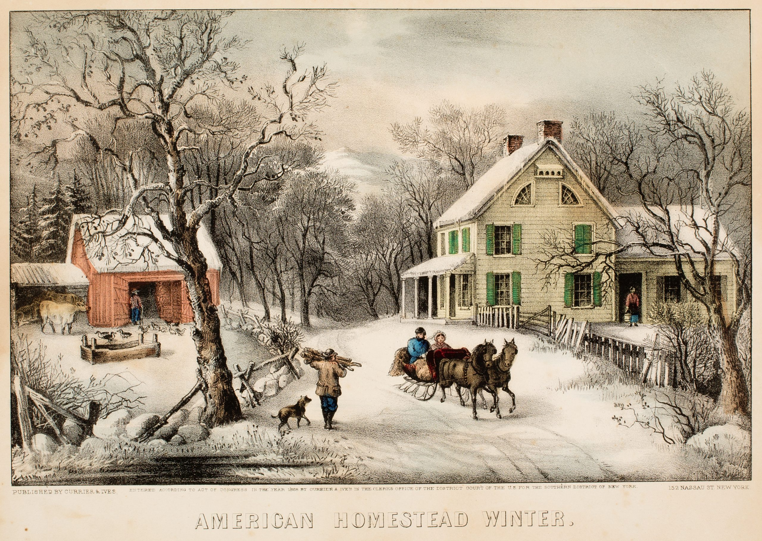 Currier & Ives, American Homestead - Winter