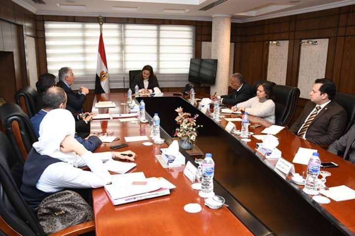 وزيرة التخطيط تبحث سبل التعاون المشترك لتمويل التجارة الدولية
