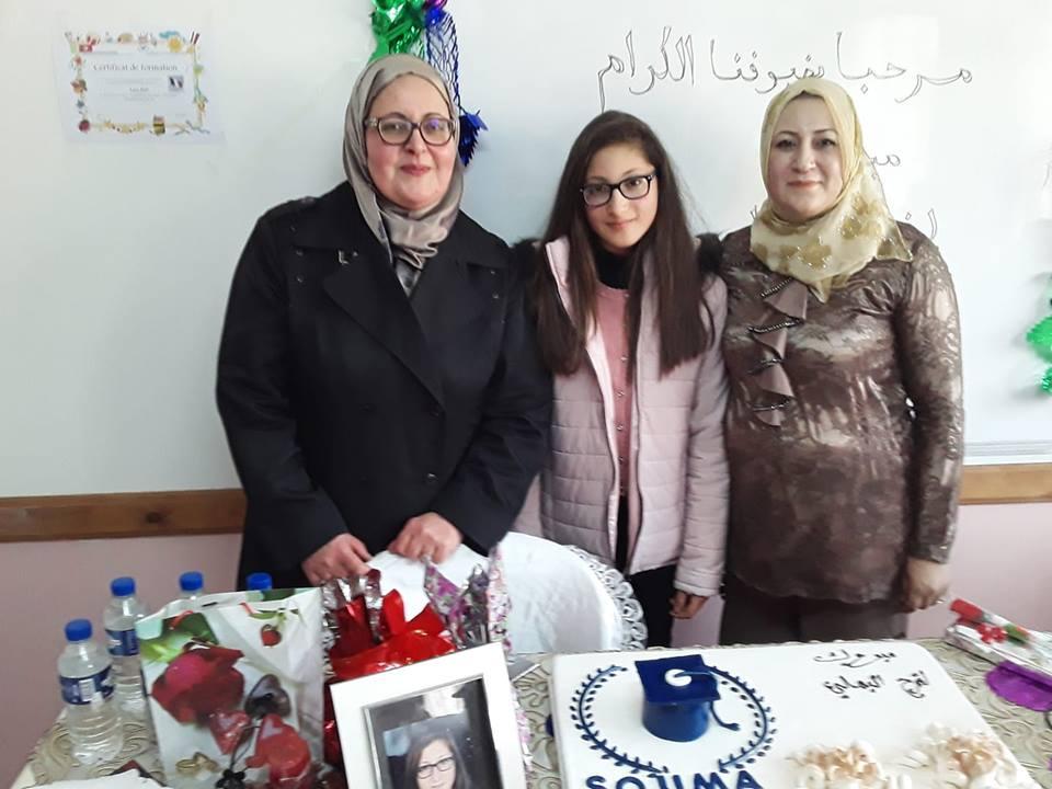 حفل تكريم الطفلة المبدعة فرح البهلي صاحبة الجائزة الاولى في الاملاء بالفرنسية.