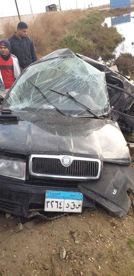 حادث بالطريق الدولي الساحلي لطريق الدولي الساحلي امام قرية مسطروه بر بحري التابعة لمركز بلطيم.