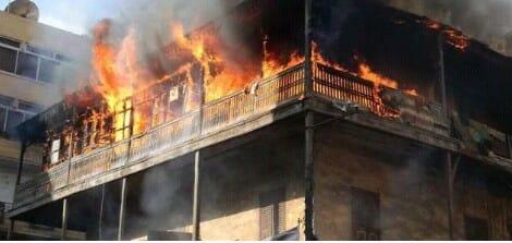 اصابة 6 مصريين في حريق بعمارة سكنية بالسعودية