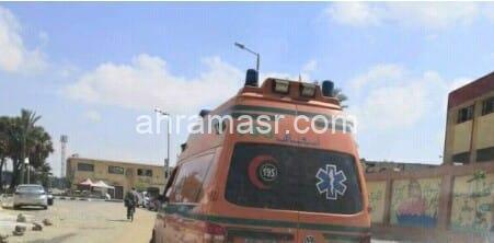 مصرع سائق واصابة اخر في حادث تصادم ميكروباص بتوك توك بالاسكندرية