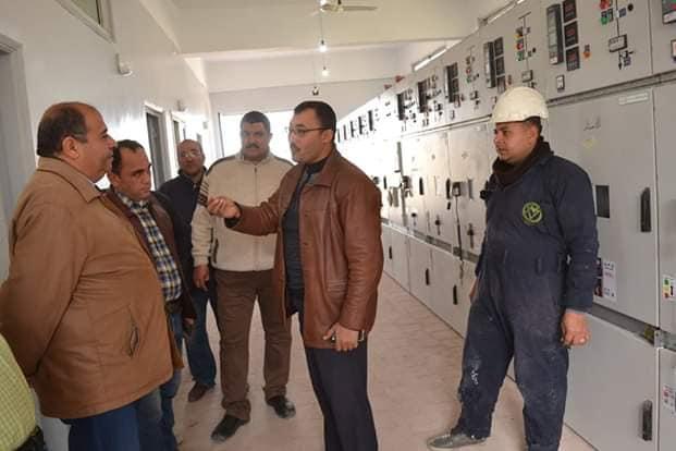 تجهيز وتوصيل الكابلات بالخلايا الجديدة ( ميمكو ) بلوحة توزيع كهرباء شرق بلطيم