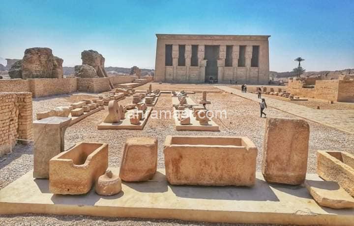 الانتهاء من أعمال المتحف المفتوح بمعبد دندرة.