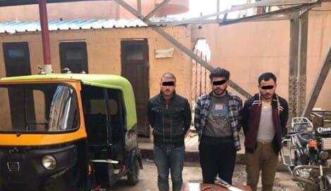 القبض علي 3 عاطلين لاعتدائهم علي شخصين لسرقة التوك توك بالاكراة بكفر الشيخ