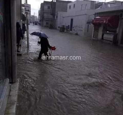 تونس : موجة برد و أمطار غزيرة تجتاح البلاد منذ يومين