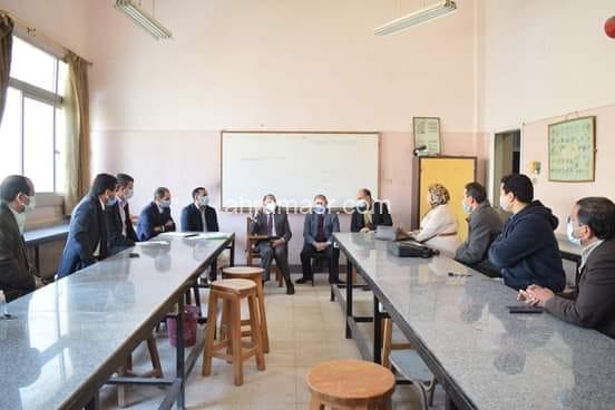 رئيس جامعة بني سويف يلتقي أعضاء هيئة التدريس بقسم الجيولوجيا بكلية العلوم