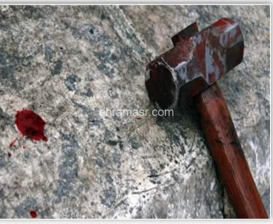 دهسته سيارة بعد قتل زوجته بشاكوش أثناء الهروب