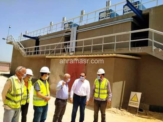 دغراب يتفقد أعمال إنشاء محطة معالجة صرف صحي ديرب نجم