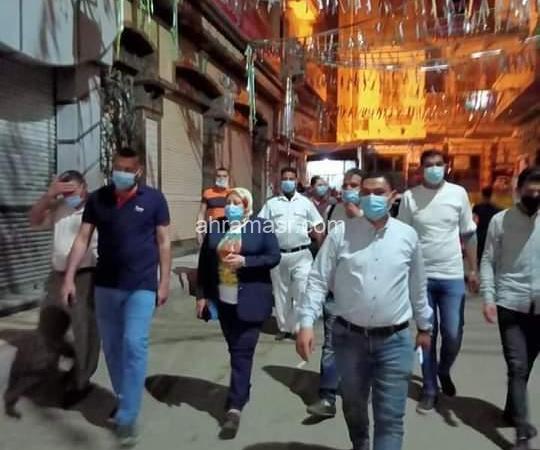 متابعة رئيس مركز رشيد لإجراءات الغلق بشوارع المدينة والتزام الجميع حفاظا على الصحة العامة