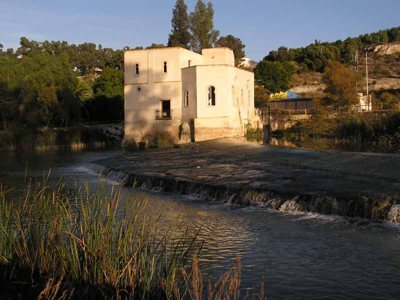 Azud de San Antonio en Guardamar, desde donde se eleva agua al P.N. de El Hondo
