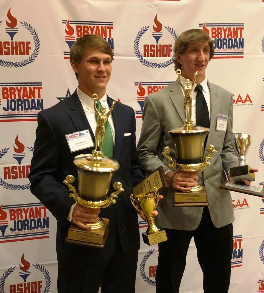 Reeltown's Cody Argo, Mountain Brook's Hamp Sisson Named Top 2018 Bryant-Jordan Winners