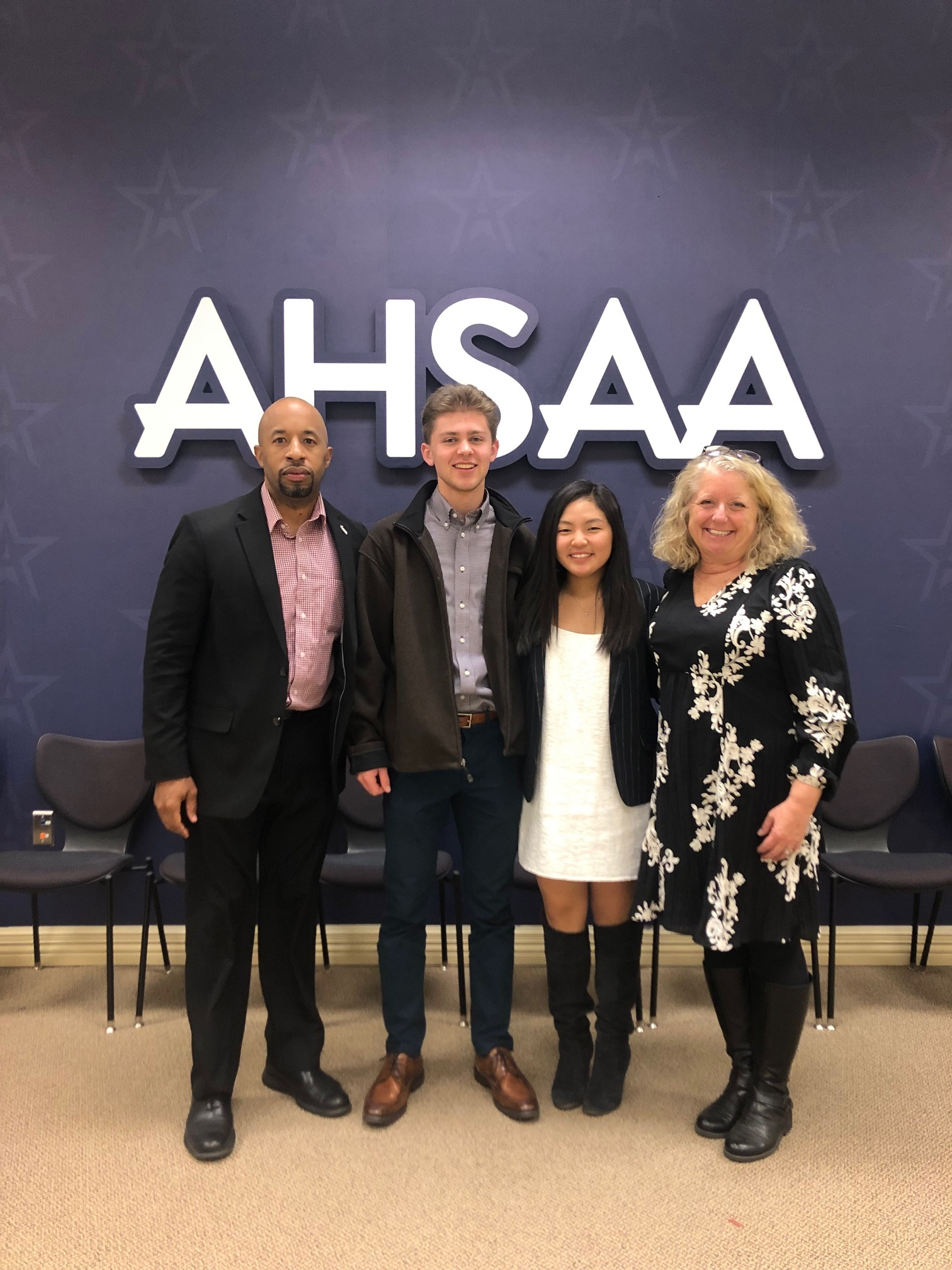 Ji Soo Kim and Isaac Stubbs selected to represent the AHSAA at the NFHS Student Leadership Summit in Indianapolis July 22-24.