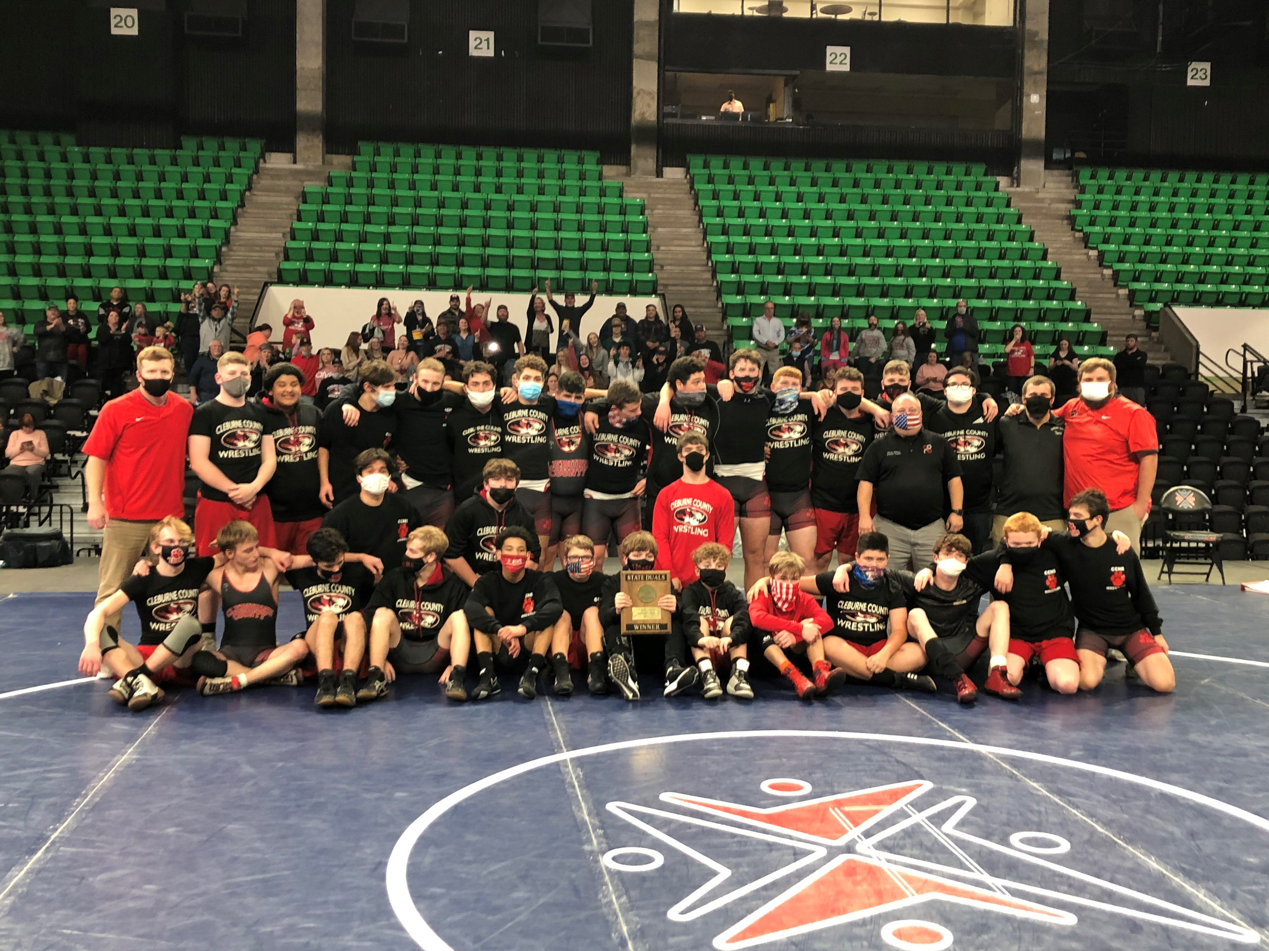 Cleburne County Rallies to Nip Ashville 43-34 to Claim the Class 1A/4A Duals Wrestling Title