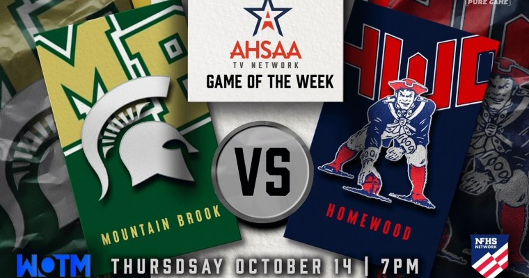 AHSAA TV Network Game of the Week: Homewood and Mountain Brook Clash in Key Class 6A, Region 5 Battle Thursday