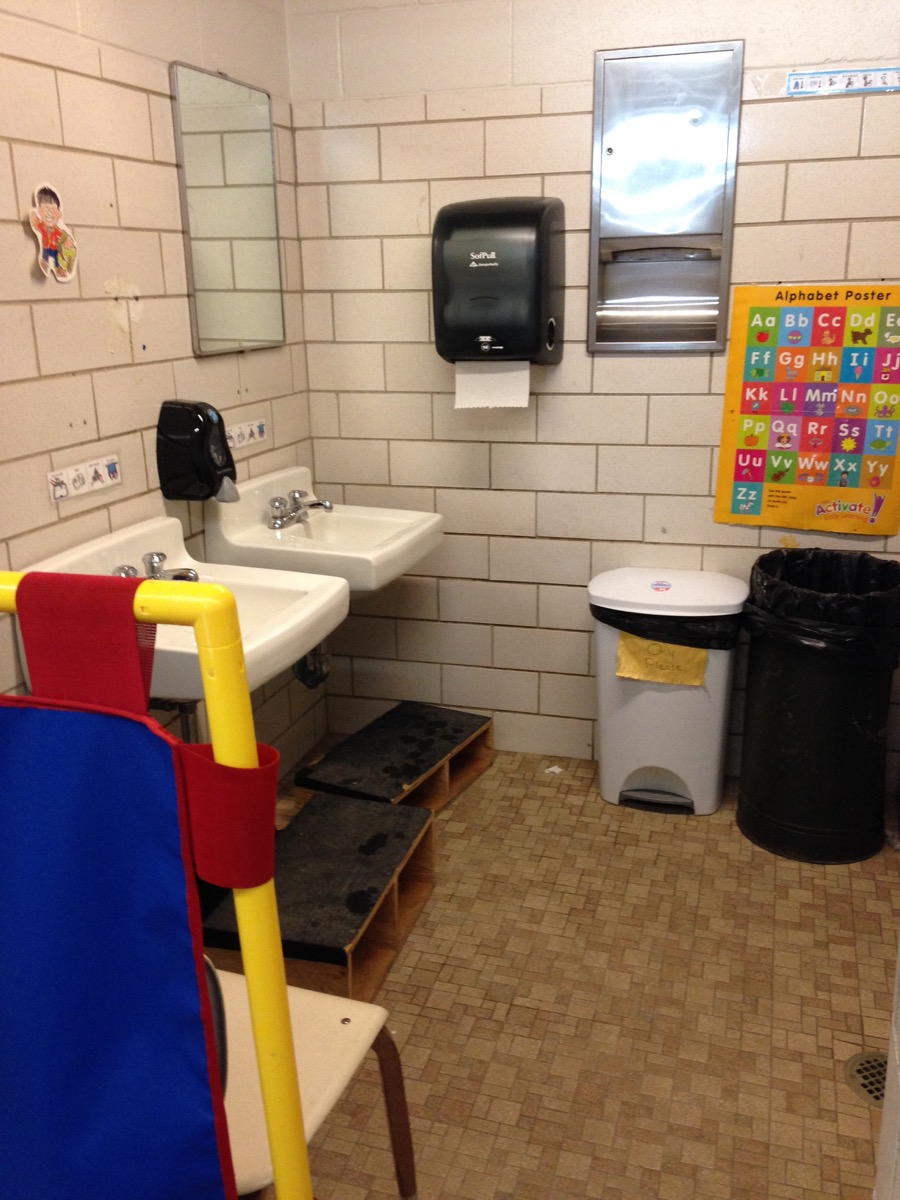 preschool bathroom design. State Mandated Preschool Shares Bathroom Facilities With Girls Locker Room Design L