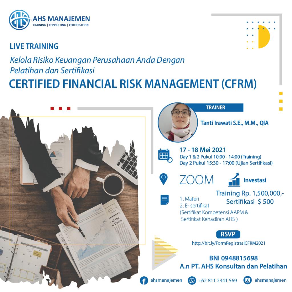Certified Financial Risk Management-CFRM (17-18 Mei 2021)