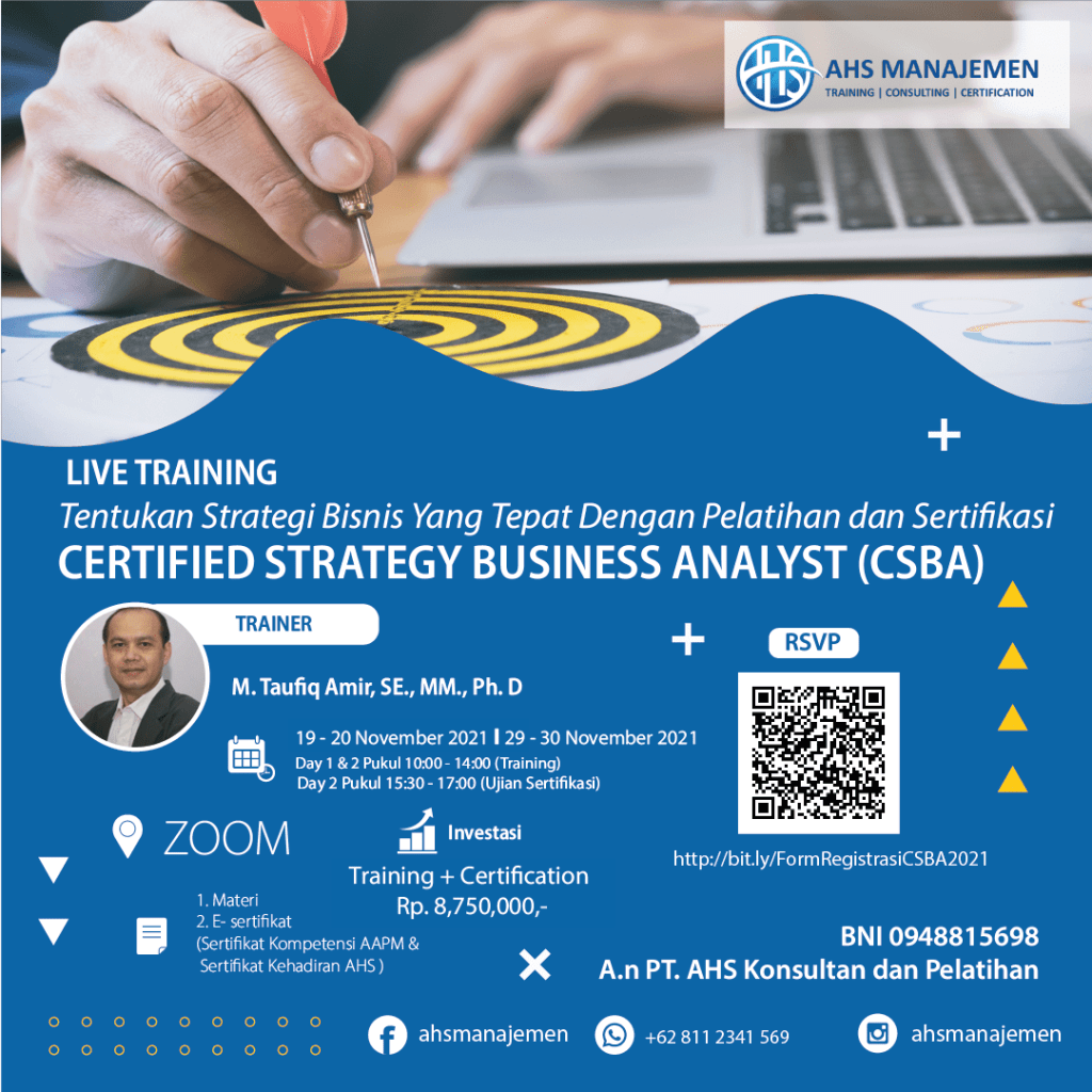 Certified Strategy Business Analyst (CSBA)